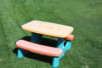 "little tykes ""large "" picnic table"