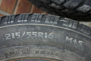 215/55r16 Arctic Claw Winter tires (2)