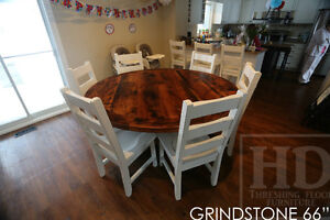 Round Reclaimed Wood Tables