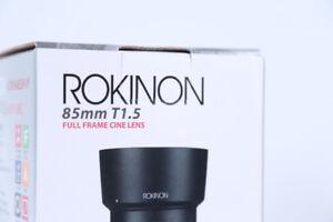 Rokinon 85mm T1.5 CINE DS pour Canon à Vendre!! COMME NEUF!!