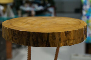 Unique Side table with hand crafted Duck table legs London Ontario image 3
