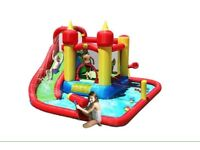Jump and Splash 14ft Bouncy Castle with Waterslide & Water Cannon