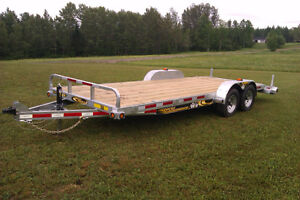 NEW 2016 MAXIROULE GALVENIZED 20 FT EQUIPMENT TRAILER  0 Klm