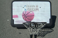 QUICK SALE $35.00 FULL SIZE NBA BASKETBALL NET & BACK BOARD