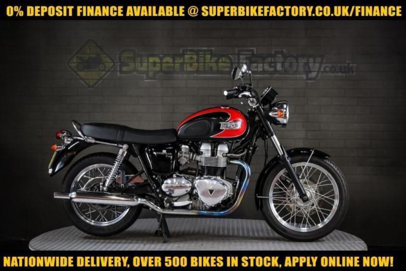 2008 58 Triumph Bonneville T100 865cc 0 Deposit