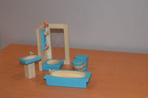 Wooden Doll house set - all inclusive West Island Greater Montréal image 2