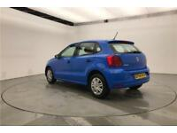 2014 Volkswagen Polo S A/C 1.0 60PS 5-speed Manual 5 Door Petrol blue Manual