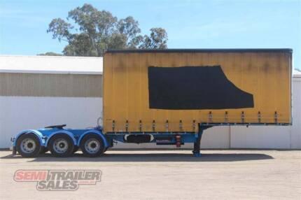 SN#171103 - 2003 Barker 12 Pallet Drop Deck Semi A Trailer