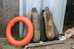 used boat fenders and life ring