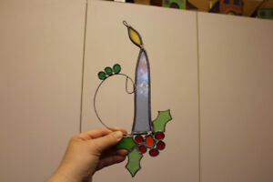 Stained glass art for Christmas time.