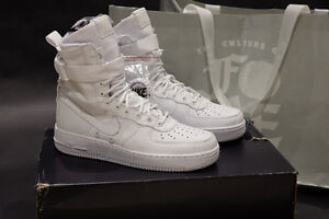 Nike Triple White Air Force 1 AF1 QS Exclusive Size 8.5