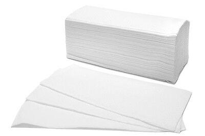 3200 Falthandtücher weiß 2 lagig ZZ Falz 25x23 cm Einmalhandtücher Spenderpapier