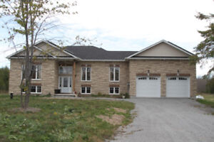 New Custom Built Bungalow with 10 Acres Lot