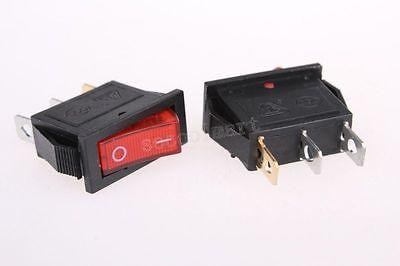 Red Illuminated Light Onoff Spst Boat Rocker Switch 15a250v 20a125v Ac