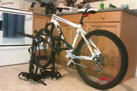 Good condition CCM Everest and bike rack