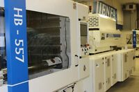 600 Ton Hybrid Injection Molding Machine with Elect Screw Drive.