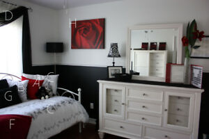 Various Red and Black Decor Pieces
