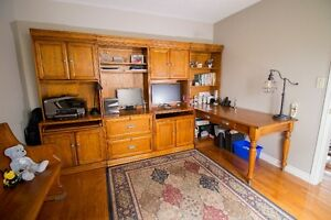 Executive Home Office Desk/Wall Unit for Sale