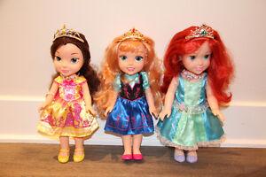 ensemble 3 poupées ma 1ere princesse Disney-Arielle,Belle,Anna