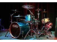 Mapex Pro M Classic drum kit in blue sparkle
