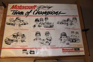 1988 FORD MOTORCRAFT RACING TEAM OF CHAMPIONS POSTER
