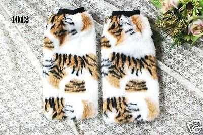 women's Fluffy Fuzzy Faux Fur Fashion/Dance Leg Warmers Muffs Boot Covers 40cm](Fluffy Boot Covers)