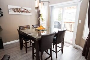 Modern 7 Piece Dining set - Real Marble top  Strathcona County Edmonton Area image 2