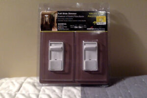 Two full slide Dimmer Swithes
