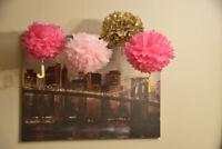 Paper flowers for decorations / papier en fleur pour decoration
