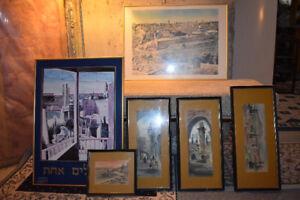 Set of 6 Jewish Paintings and Art Print