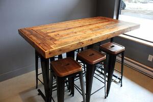 Table sur mesure/ Table Bistro / Butcher block / Rustique West Island Greater Montréal image 9