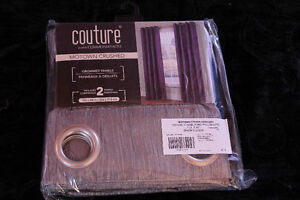 Never opened curtains set of 2 GREY