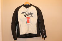 2 Brand New Victory Motorcycle Leather Jackets Men's/Ladies