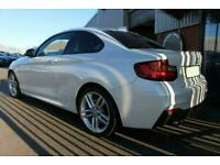2015 WHITE BMW 220D 2.0 M SPORT DIESEL MANUAL 2DR COUPE CAR FINANCE FR £201 PCM