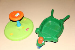 Sesame Street Sit and Spin Toy and Turtle Wheel Barrow