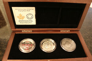 2015 Pure Silver 3 coin set- Singing Moon Mask