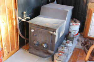 Large cast iron wood stove