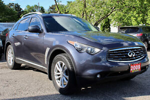 2009 INFINITI FX35 AWD - FULLY LOADED - REVERSE CAM - CERTIFIED