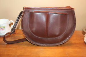 Vintage Leather Conductor's Bag