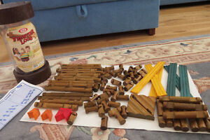 Frontier Logs Classic All Wood Construction Set with Storage Can