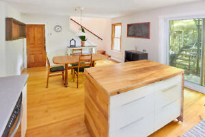 Furnished 5 1/2 with large private backyard in the Plateau