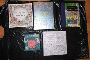 BRAND NEW ADULT COLOURING BOOKS FOR SALE