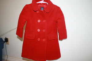 Gap red wool peacoat size 2 years