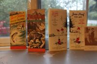 Antique Hunting and Fishing Brochures & 1 Old Fishing Postcard
