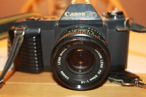 Canon T50 35mm Film Camera with a 50mm Lens