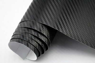 4,90€/m² 3D Carbon Folie schwarz - blasenfrei 2000 x 152cm Klebefolie Carbon Opt