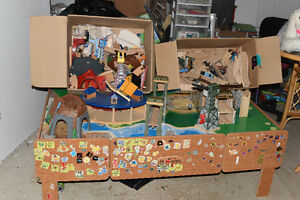 For sale Train set, furReal Dog,sew cool, monster high dolls