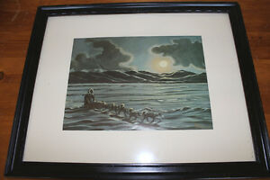 "Vintage Inuit Print ""Colville Lake, NWT"" by Bern Will Brown"