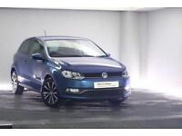 2014 Volkswagen Polo 1.2 TSI SE (90 PS) BMT Petrol blue Manual