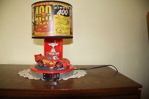 Disney/Pixar CAR Lightning McQueen Talking Alarm Clock Lamp